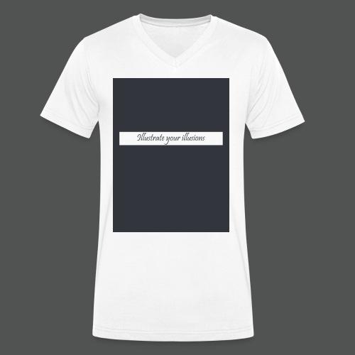 Illustrate your illusions - Økologisk Stanley & Stella T-shirt med V-udskæring til herrer