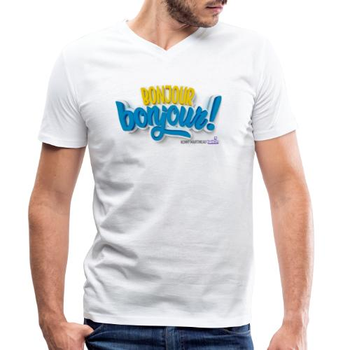 Bonjour bonjour - T-shirt bio col V Stanley & Stella Homme