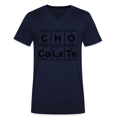 C-H-O-Co-La-Te (chocolate) - Full - Men's Organic V-Neck T-Shirt by Stanley & Stella