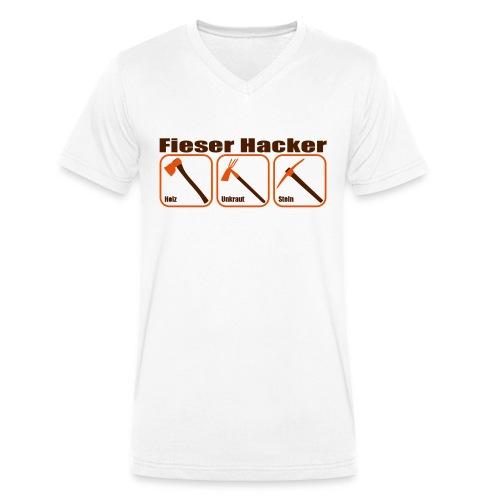 Fieser Hacker - Holz, Unkraut, Stein - Männer Bio-T-Shirt mit V-Ausschnitt von Stanley & Stella