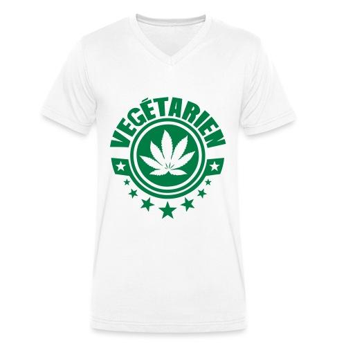 vegetarien feuille cannabis logo - T-shirt bio col V Stanley & Stella Homme