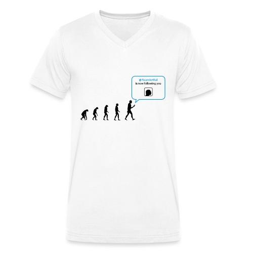 Social network evolution - T-shirt ecologica da uomo con scollo a V di Stanley & Stella