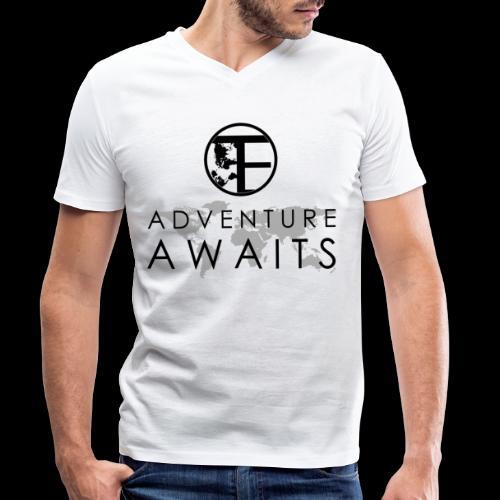 Travi's Edition / Adventure Awaits / Black - Männer Bio-T-Shirt mit V-Ausschnitt von Stanley & Stella