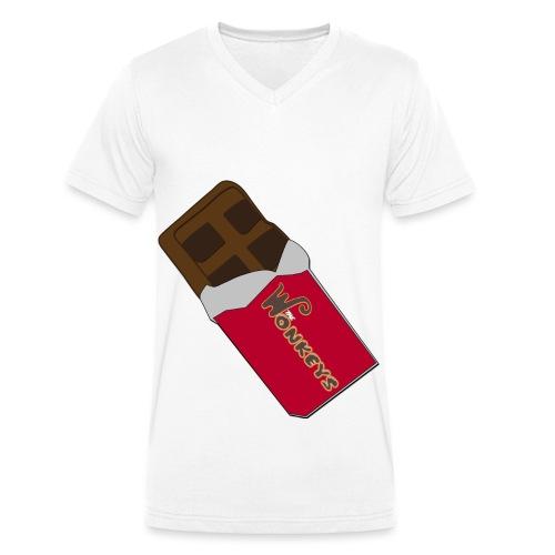The Wonkeys Chocolate Edition - T-shirt ecologica da uomo con scollo a V di Stanley & Stella