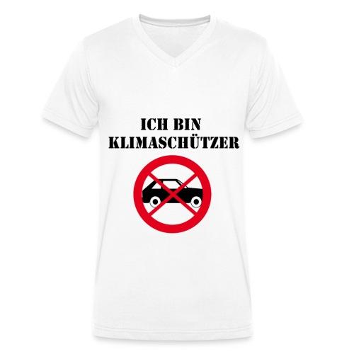 Ich bin Klimaschützer - Männer Bio-T-Shirt mit V-Ausschnitt von Stanley & Stella