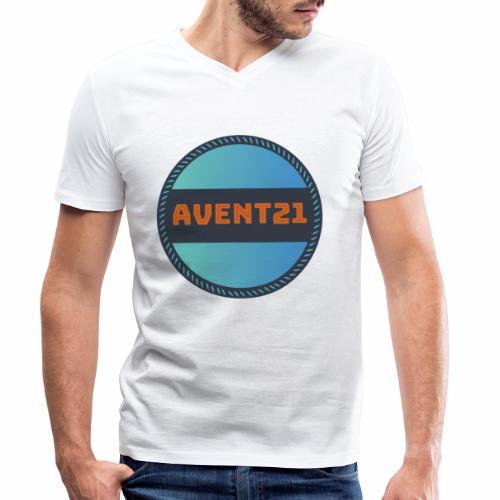 avent21 logo - Men's Organic V-Neck T-Shirt by Stanley & Stella