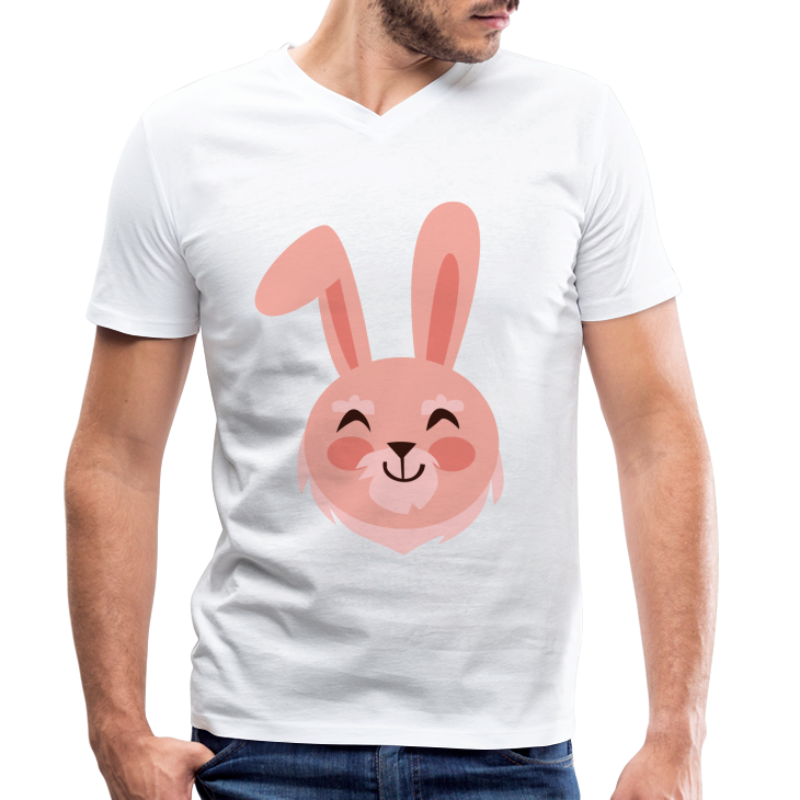 Lapin animaux mignons et drôles - T-shirt bio col V Stanley & Stella Homme