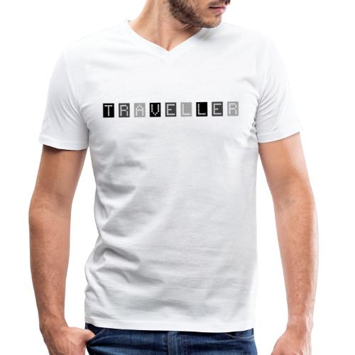 Traveler 90s - Men's Organic V-Neck T-Shirt by Stanley & Stella