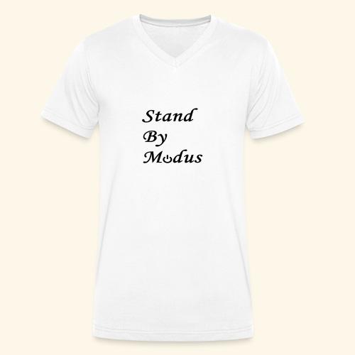 Schrift schwarz - Männer Bio-T-Shirt mit V-Ausschnitt von Stanley & Stella