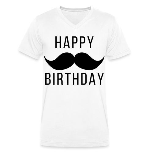 Happy Birtday Dad - Männer Bio-T-Shirt mit V-Ausschnitt von Stanley & Stella