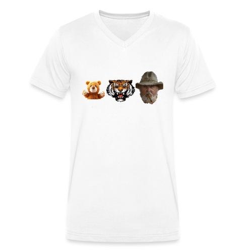 BärTigerMann Vektor w - Männer Bio-T-Shirt mit V-Ausschnitt von Stanley & Stella