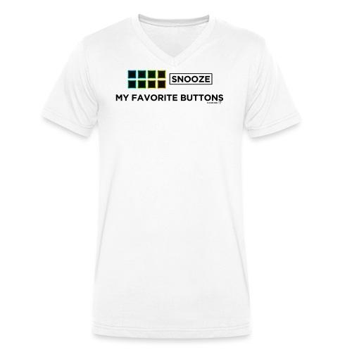 Snooze + Phantom Buttons // Kaskobi - Men's Organic V-Neck T-Shirt by Stanley & Stella