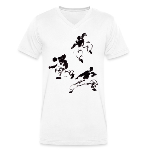 3 kungfu - Men's Organic V-Neck T-Shirt by Stanley & Stella