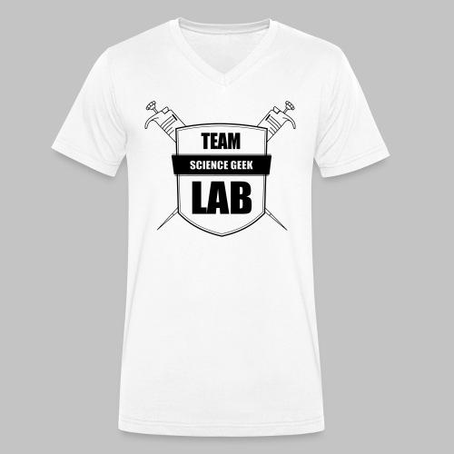 lab team - Men's Organic V-Neck T-Shirt by Stanley & Stella