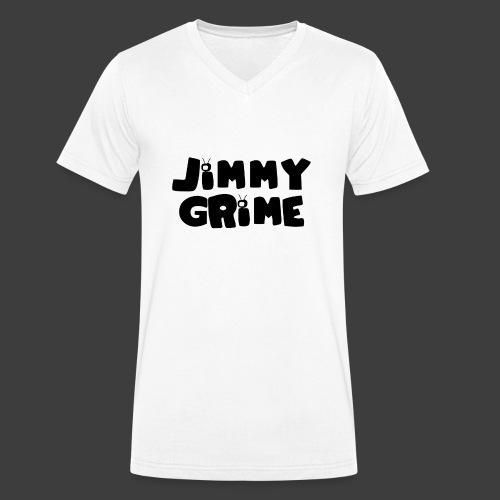 Jimmy Grime White Family Guy Shirt - Camiseta ecológica hombre con cuello de pico de Stanley & Stella