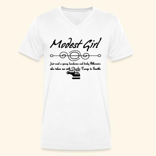 Modest Girl Shirts - Men's Organic V-Neck T-Shirt by Stanley & Stella