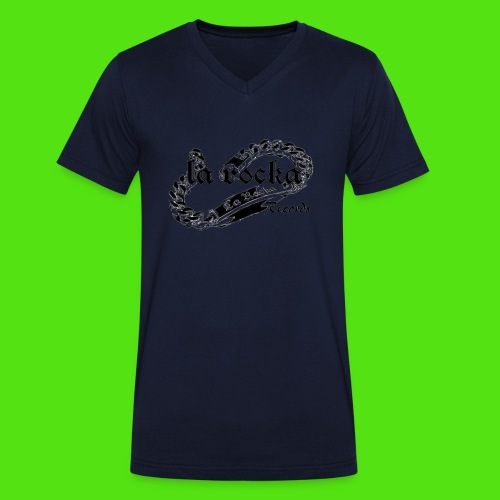 La Rocka - white'n'black2 - Men's Organic V-Neck T-Shirt by Stanley & Stella
