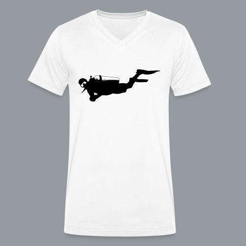 Taucher - Männer Bio-T-Shirt mit V-Ausschnitt von Stanley & Stella