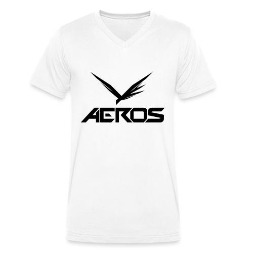 Aeros LOGO 2016 final - Mannen bio T-shirt met V-hals van Stanley & Stella