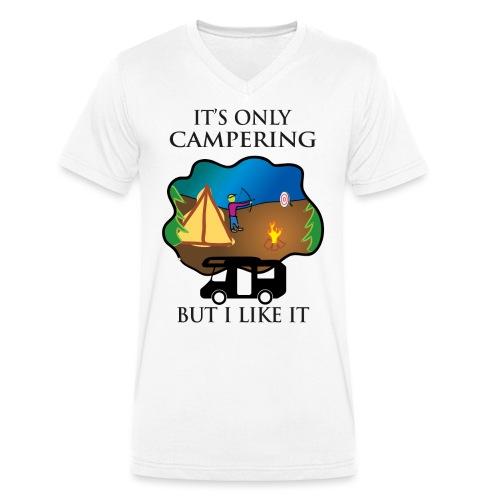 To tylko campering, ale to lubię - Ekologiczna koszulka męska z dekoltem w serek Stanley & Stella