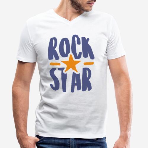 rock star - Männer Bio-T-Shirt mit V-Ausschnitt von Stanley & Stella