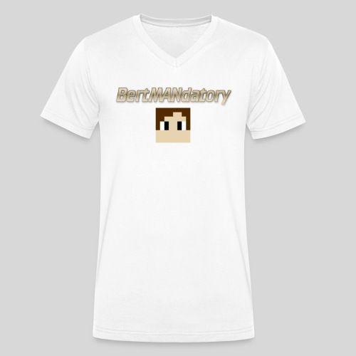 BertMANdatory Merch - Men's Organic V-Neck T-Shirt by Stanley & Stella