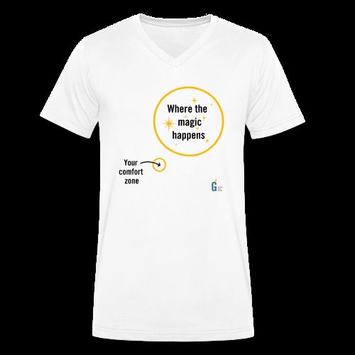 Where the magic happens I - Men's Organic V-Neck T-Shirt by Stanley & Stella