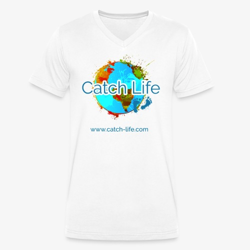 Catch Life Color - Men's Organic V-Neck T-Shirt by Stanley & Stella