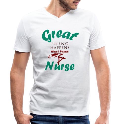 Great Nurse-Gift - T-shirt bio col V Stanley & Stella Homme