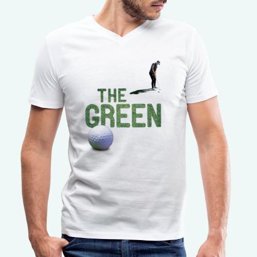 Golf - The Green - Männer Bio-T-Shirt mit V-Ausschnitt von Stanley & Stella