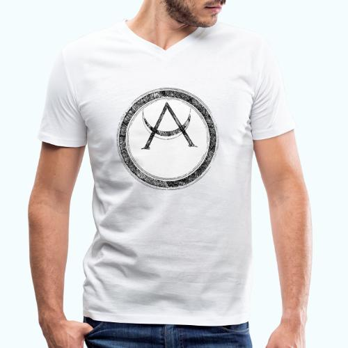 Mystic motif with sun and circle geometric - Men's Organic V-Neck T-Shirt by Stanley & Stella