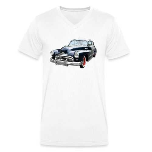 Classic Car. Buick zwart. - Mannen bio T-shirt met V-hals van Stanley & Stella