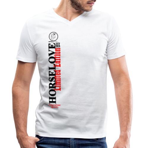 Horselove Limited Edtion Pferd Reiten - Männer Bio-T-Shirt mit V-Ausschnitt von Stanley & Stella