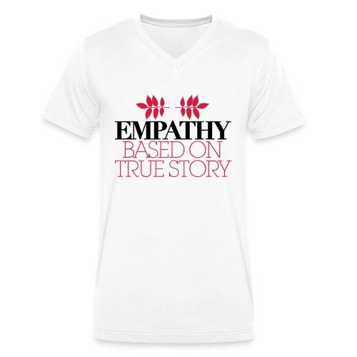 empathy story - Ekologiczna koszulka męska z dekoltem w serek Stanley & Stella