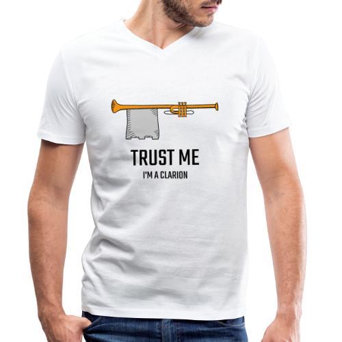 Trust me clarion - T-shirt ecologica da uomo con scollo a V di Stanley & Stella