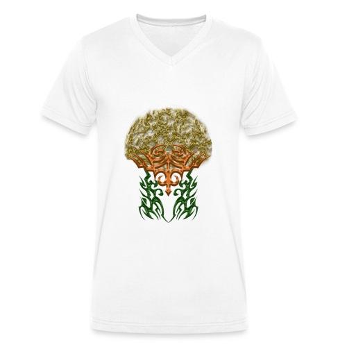 Golden Brain - Männer Bio-T-Shirt mit V-Ausschnitt von Stanley & Stella