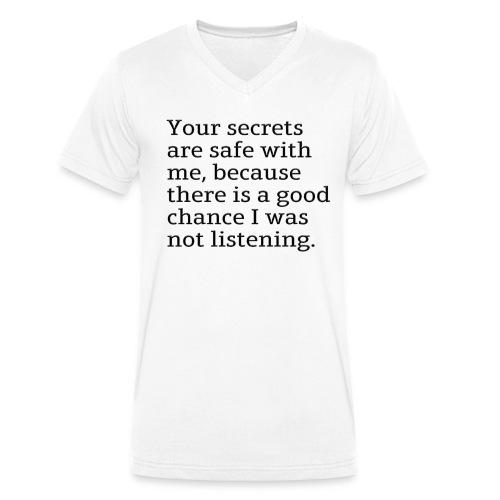 I wasn't listening - Ekologisk T-shirt med V-ringning herr från Stanley & Stella