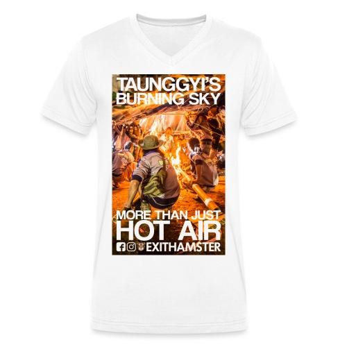 TAUNGGYI S BURNING SKY - Men's Organic V-Neck T-Shirt by Stanley & Stella