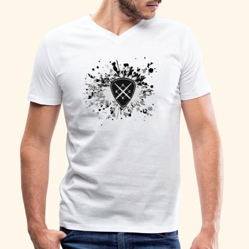 ROCK MUSIC - Männer Bio-T-Shirt mit V-Ausschnitt von Stanley & Stella