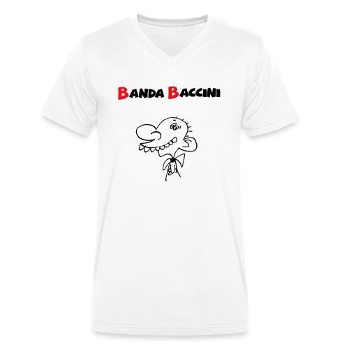 Banda Baccini. - T-shirt ecologica da uomo con scollo a V di Stanley & Stella