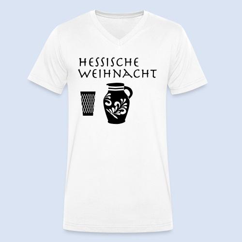 Hessische Weihnachten - Männer Bio-T-Shirt mit V-Ausschnitt von Stanley & Stella