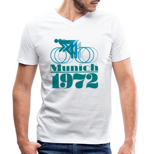Munich Cycling - Männer Bio-T-Shirt mit V-Ausschnitt von Stanley & Stella