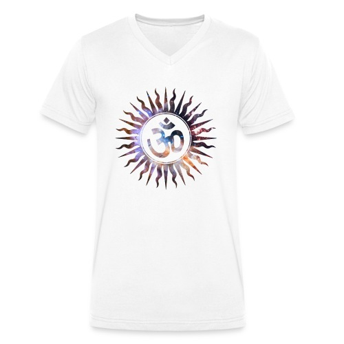 Om Mantra Symbol - Camiseta ecológica hombre con cuello de pico de Stanley & Stella