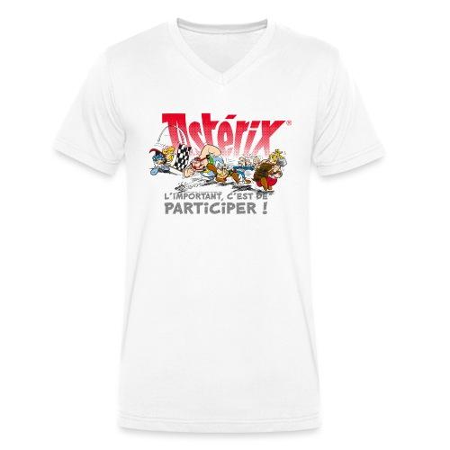 Astérix - L'important, c'est de participier! - T-shirt bio col V Stanley & Stella Homme