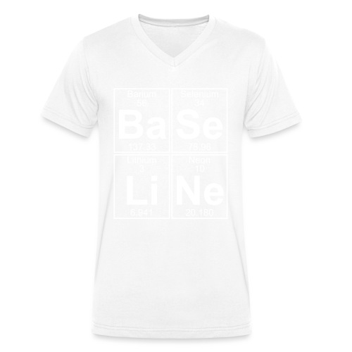 Ba-Se-Li-Ne (baseline) - Full - Men's Organic V-Neck T-Shirt by Stanley & Stella