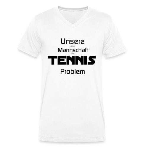 AlkoholTennis - Männer Bio-T-Shirt mit V-Ausschnitt von Stanley & Stella