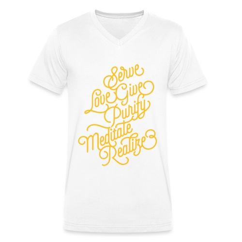 Serve Love Give Purify Meditate Realize - Männer Bio-T-Shirt mit V-Ausschnitt von Stanley & Stella