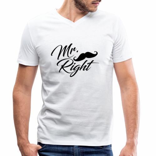 Mr. Right - Männer Bio-T-Shirt mit V-Ausschnitt von Stanley & Stella