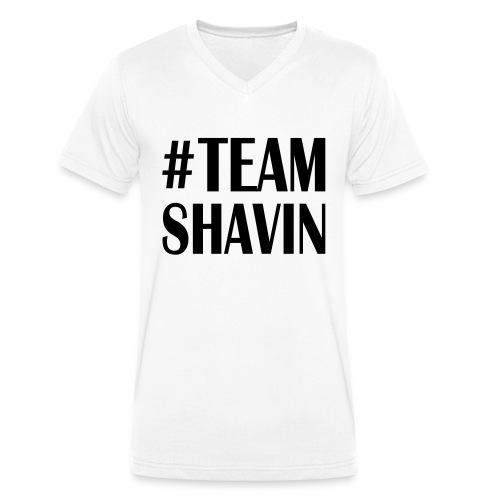 TeamShavin - Männer Bio-T-Shirt mit V-Ausschnitt von Stanley & Stella