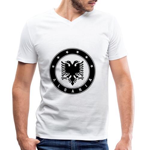 Patrioti Albania Black - Männer Bio-T-Shirt mit V-Ausschnitt von Stanley & Stella